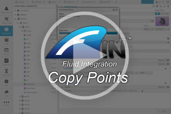 Copying Points across FIN Stack