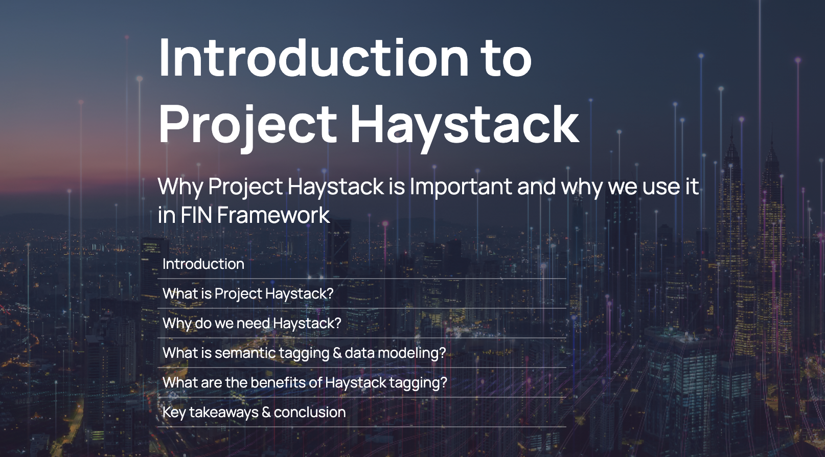 Project Haystack Pillar Page preview