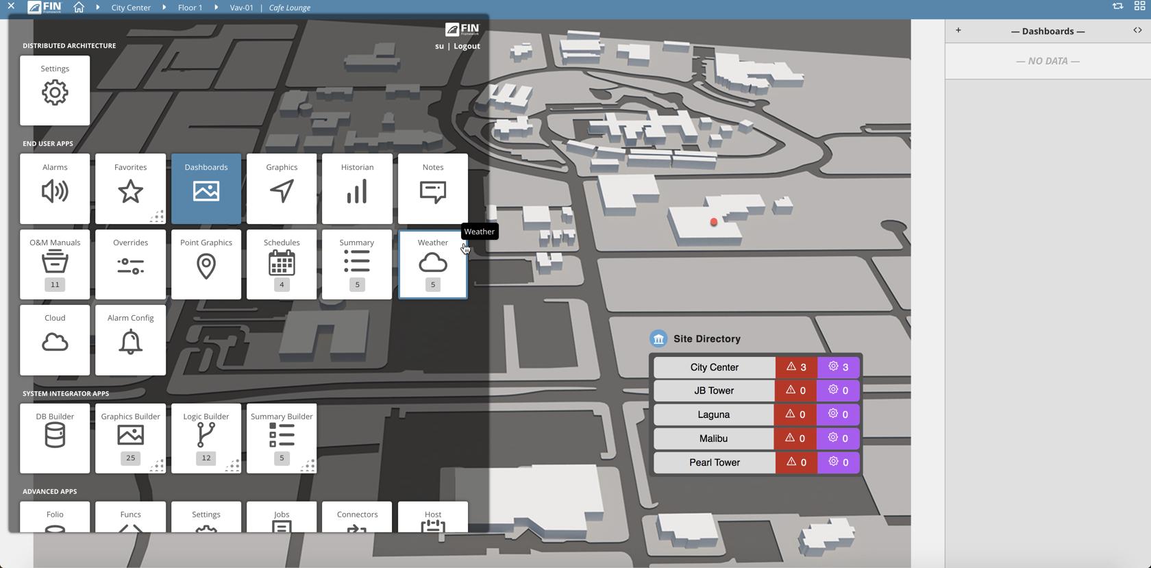 dashboard builder app